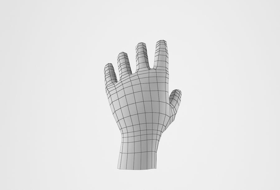 Gerçekçi insan eli royalty-free 3d model - Preview no. 29