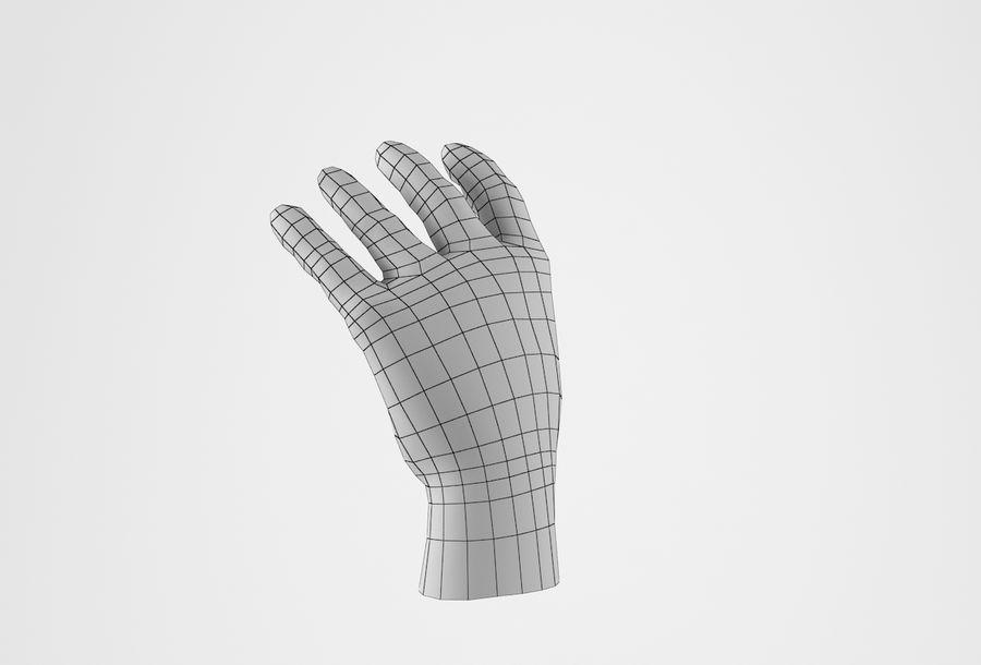 Gerçekçi insan eli royalty-free 3d model - Preview no. 30