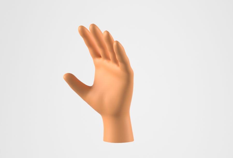 Gerçekçi insan eli royalty-free 3d model - Preview no. 16