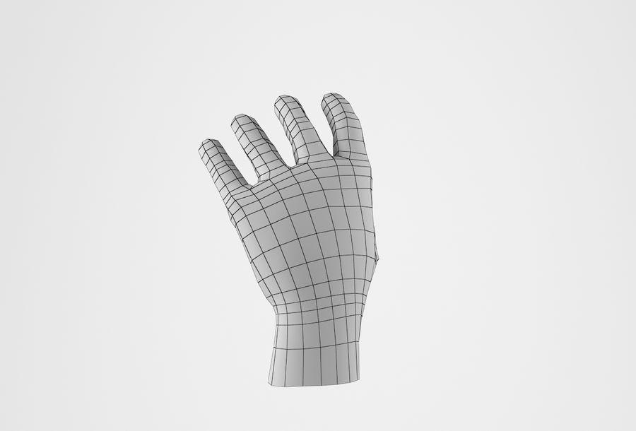 Gerçekçi insan eli royalty-free 3d model - Preview no. 22