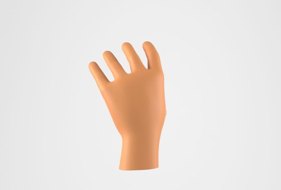 Gerçekçi insan eli royalty-free 3d model - Preview no. 6