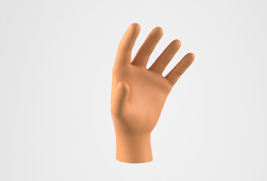 Gerçekçi insan eli royalty-free 3d model - Preview no. 10