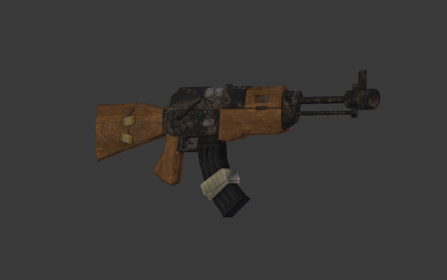 Modelo Ak-47 Low Poly royalty-free modelo 3d - Preview no. 1