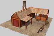 Lumber mill 3d model