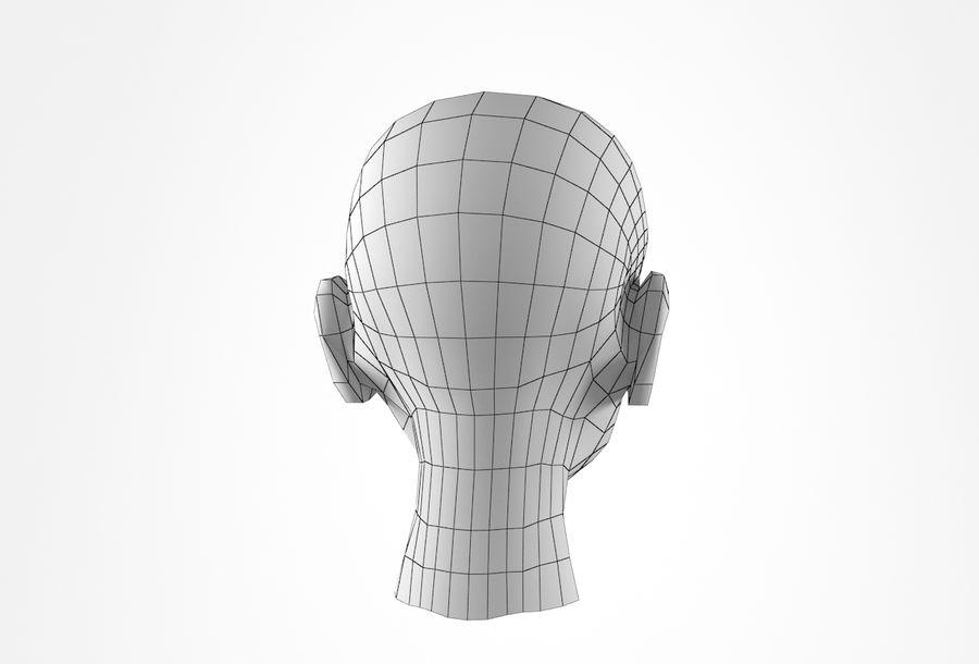 Rapaz Basemesh Cabeça royalty-free 3d model - Preview no. 22
