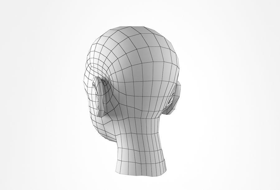 Rapaz Basemesh Cabeça royalty-free 3d model - Preview no. 24