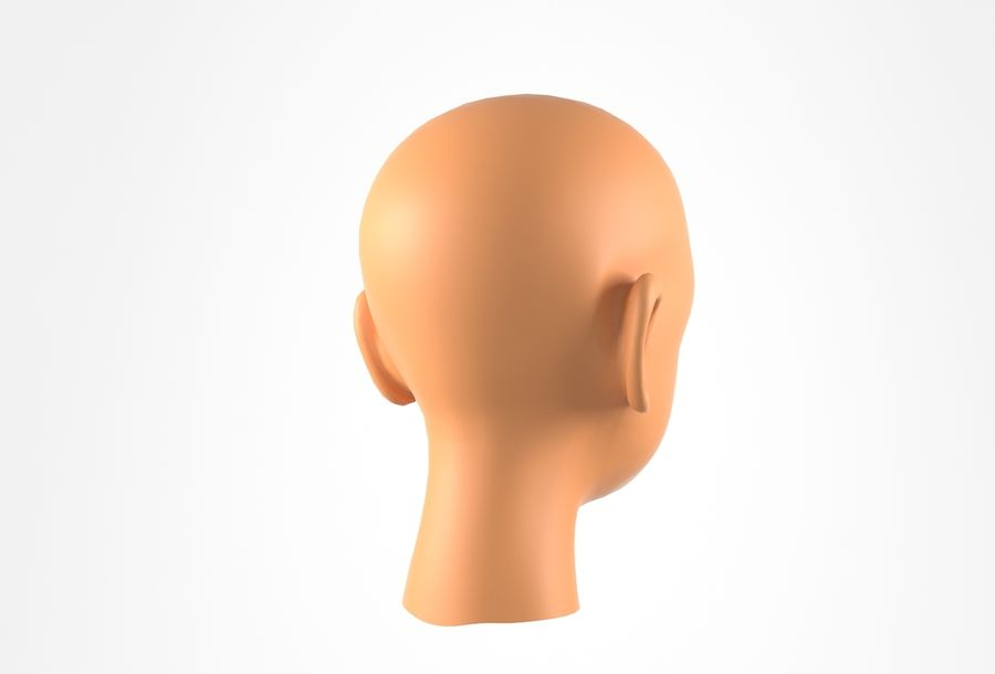 Rapaz Basemesh Cabeça royalty-free 3d model - Preview no. 6
