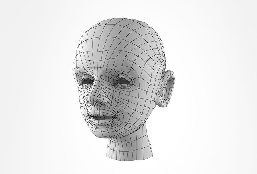 Rapaz Basemesh Cabeça royalty-free 3d model - Preview no. 29