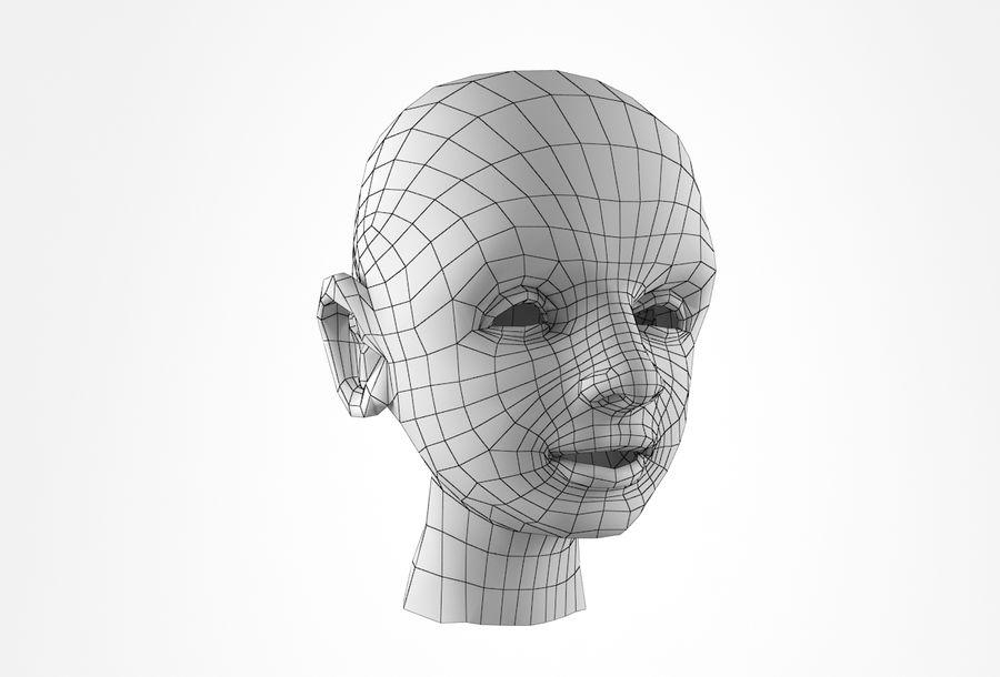 Rapaz Basemesh Cabeça royalty-free 3d model - Preview no. 16