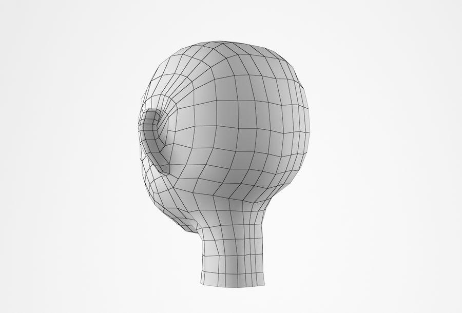 Cabeça dos desenhos animados de Basemesh royalty-free 3d model - Preview no. 26