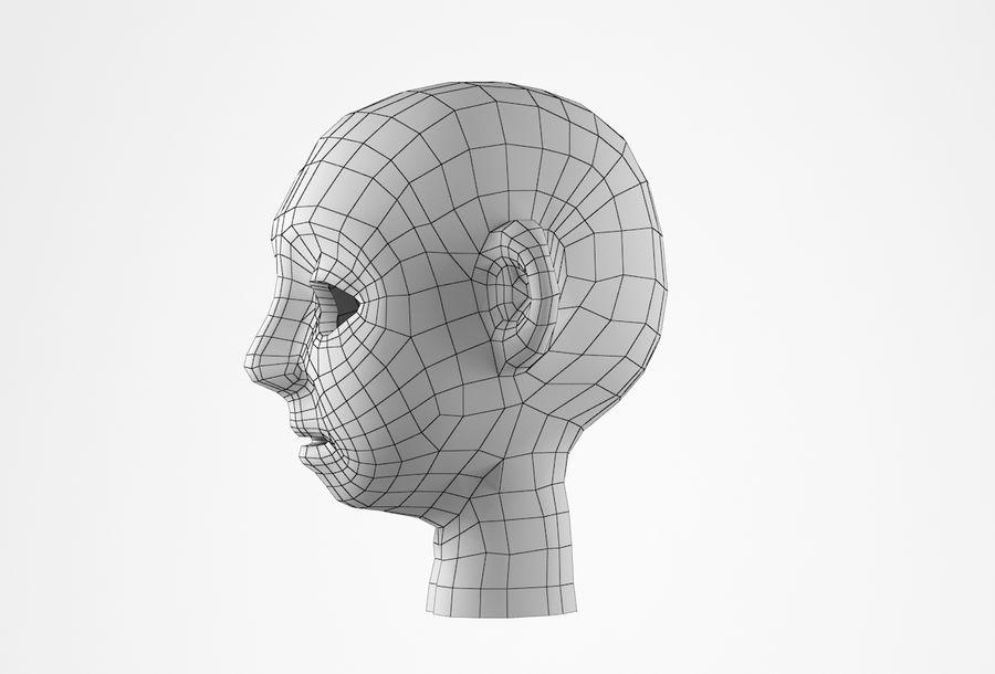 Cabeça dos desenhos animados de Basemesh royalty-free 3d model - Preview no. 29