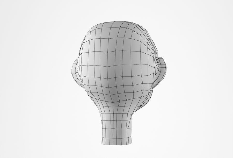 Cabeça dos desenhos animados de Basemesh royalty-free 3d model - Preview no. 24