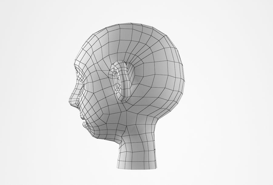 Cabeça dos desenhos animados de Basemesh royalty-free 3d model - Preview no. 28