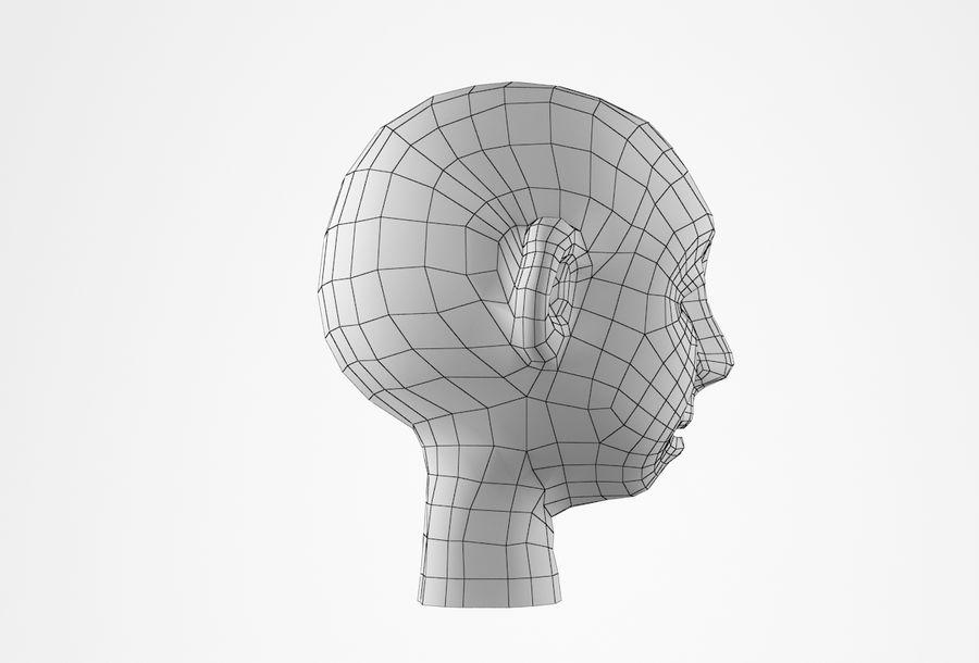 Cabeça dos desenhos animados de Basemesh royalty-free 3d model - Preview no. 21