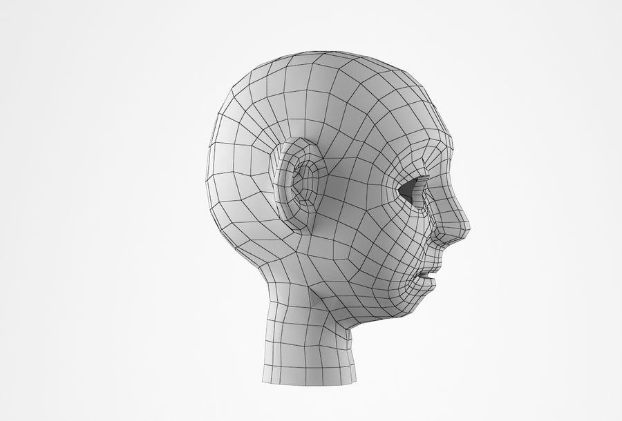 Cabeça dos desenhos animados de Basemesh royalty-free 3d model - Preview no. 20
