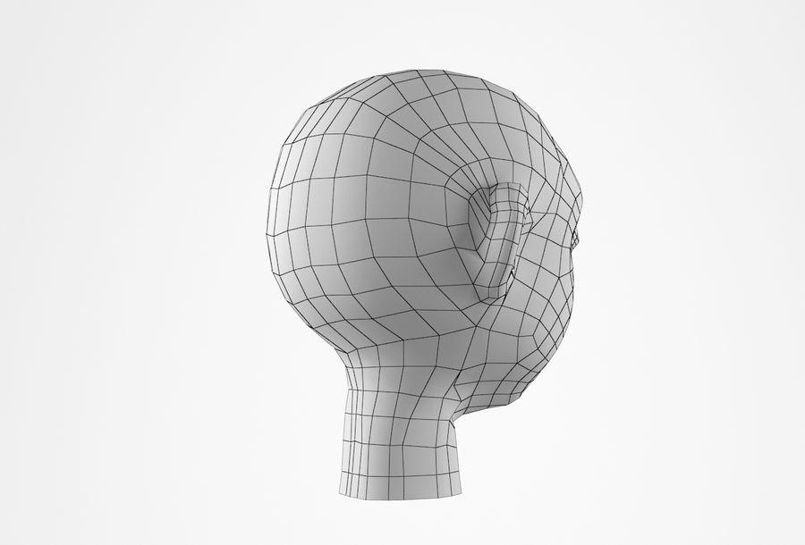 Cabeça dos desenhos animados de Basemesh royalty-free 3d model - Preview no. 22