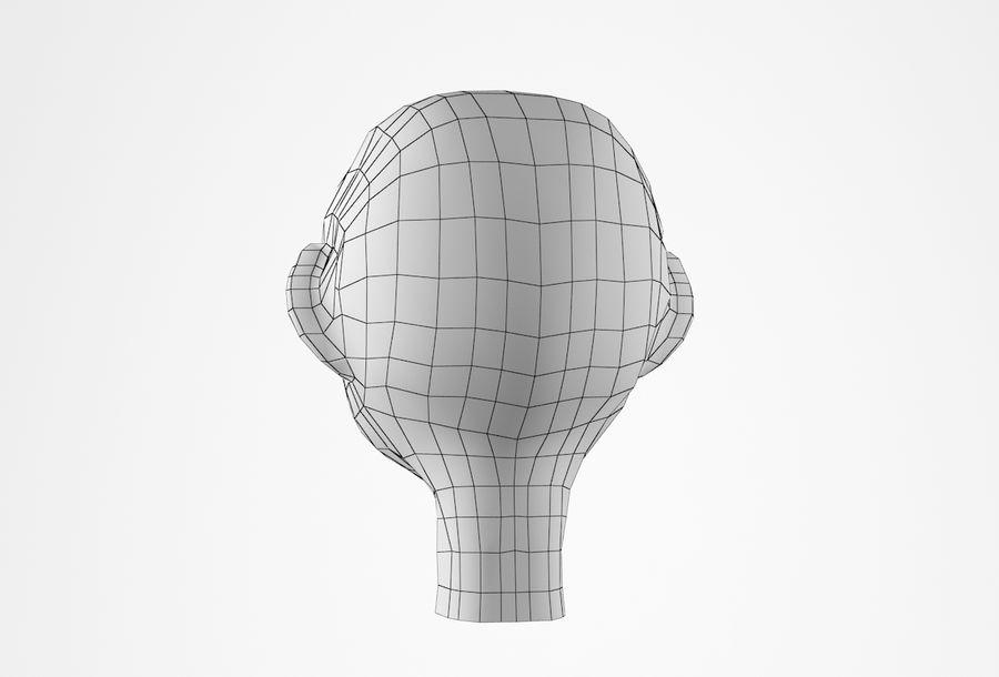 Cabeça dos desenhos animados de Basemesh royalty-free 3d model - Preview no. 25