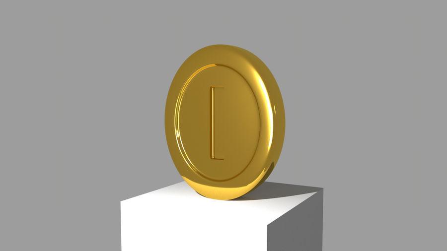 MARIO COIN royalty-free 3d model - Preview no. 1