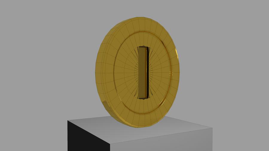 MARIO COIN royalty-free 3d model - Preview no. 4