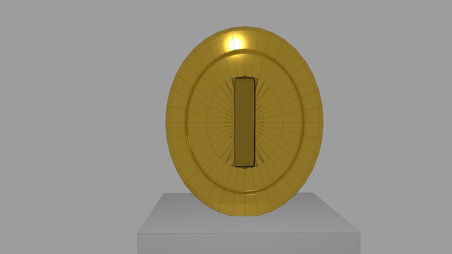 MARIO COIN royalty-free 3d model - Preview no. 5