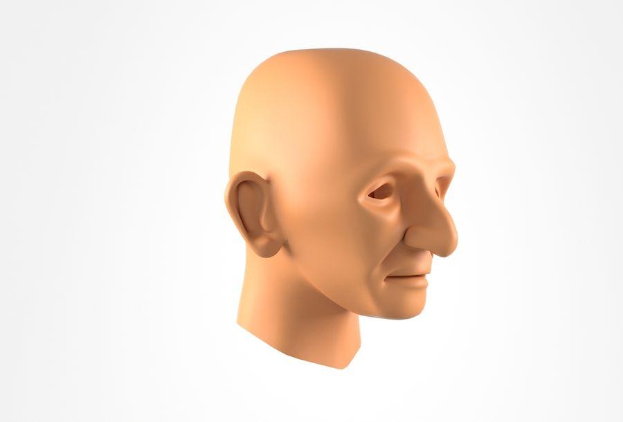 Cabeça de homem velho Basemesh royalty-free 3d model - Preview no. 2