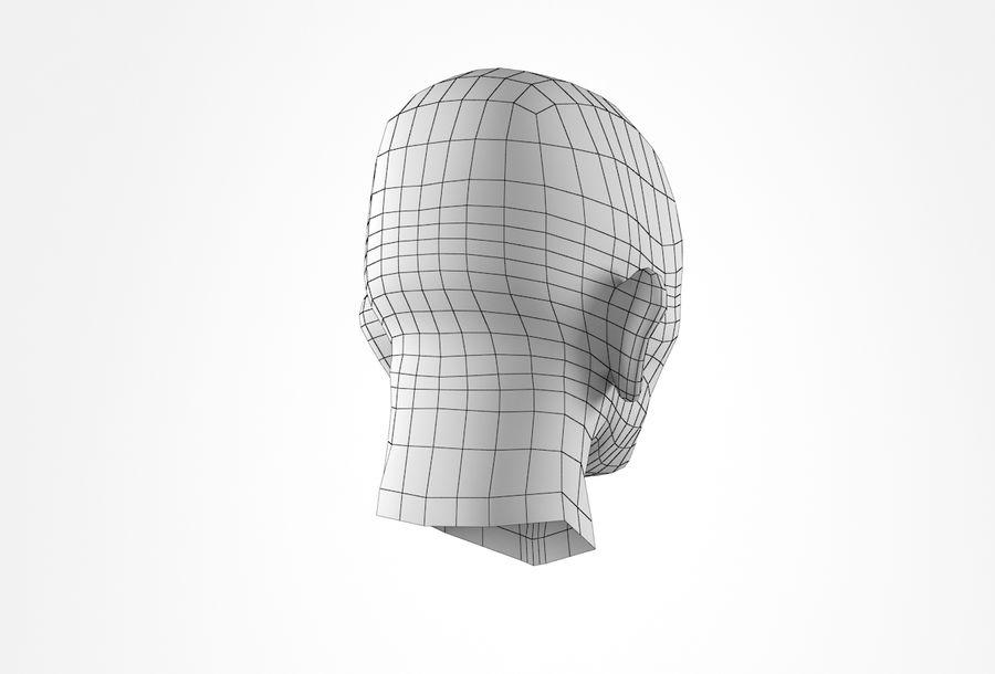 Cabeça de homem velho Basemesh royalty-free 3d model - Preview no. 22