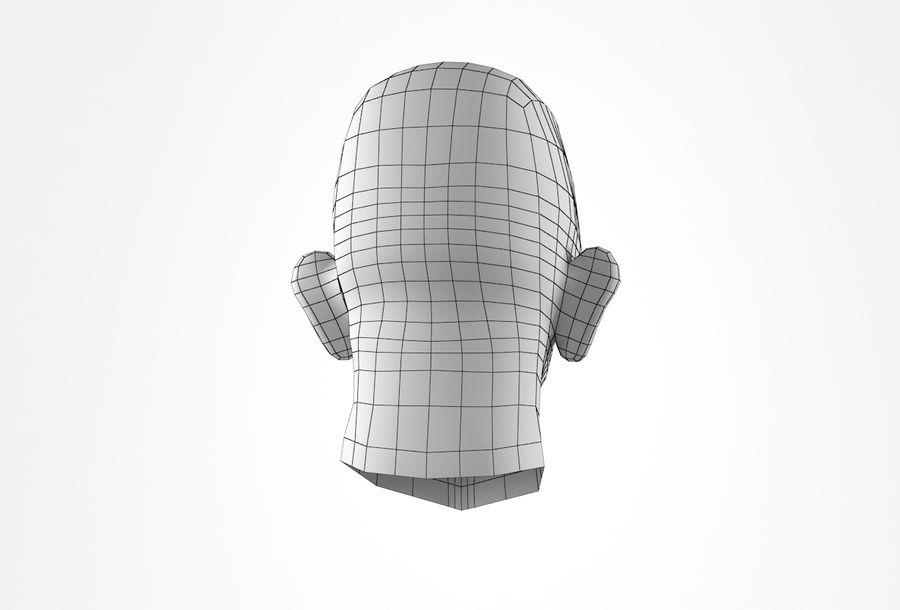 Cabeça de homem velho Basemesh royalty-free 3d model - Preview no. 23