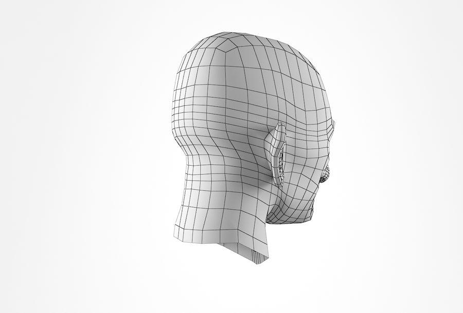 Cabeça de homem velho Basemesh royalty-free 3d model - Preview no. 21