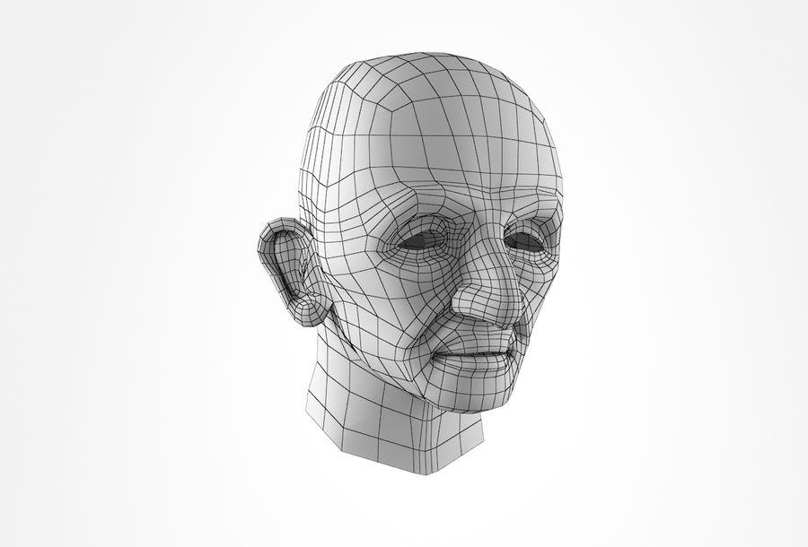 Cabeça de homem velho Basemesh royalty-free 3d model - Preview no. 17