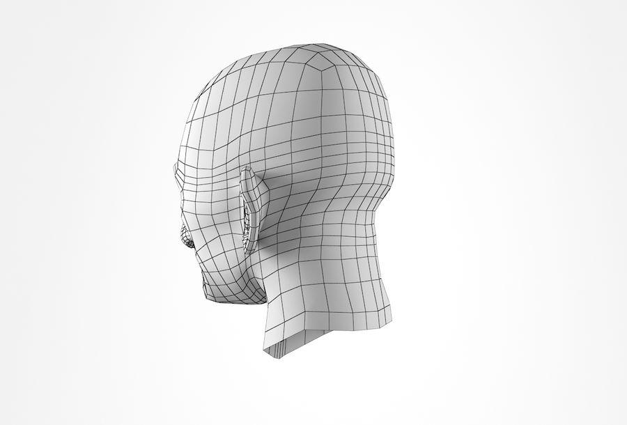 Cabeça de homem velho Basemesh royalty-free 3d model - Preview no. 26