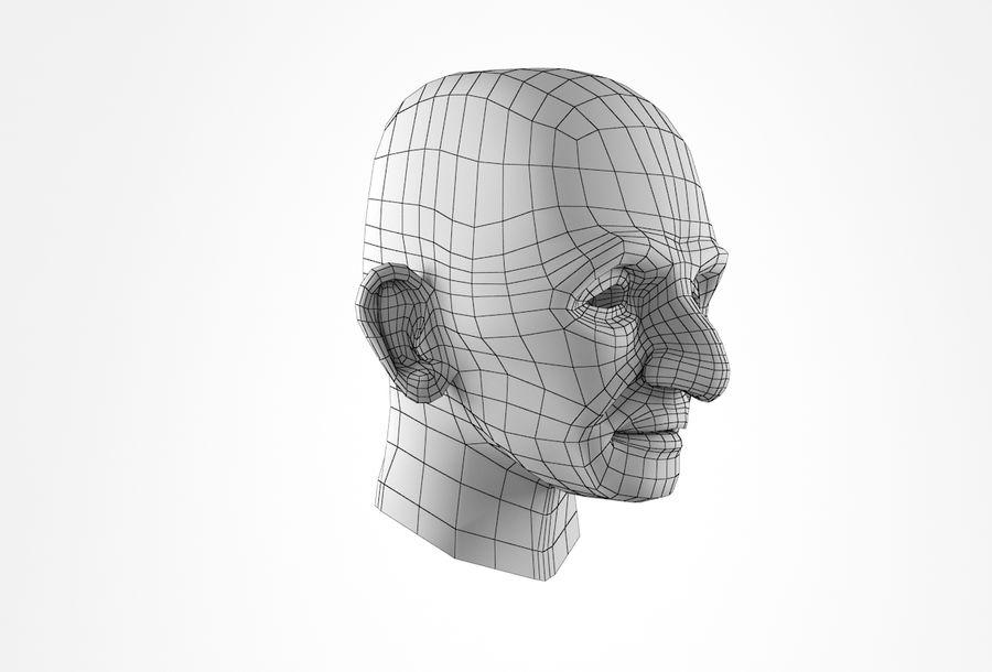 Cabeça de homem velho Basemesh royalty-free 3d model - Preview no. 18