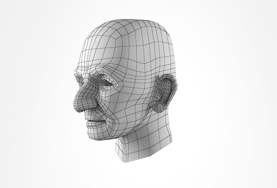 Cabeça de homem velho Basemesh royalty-free 3d model - Preview no. 29