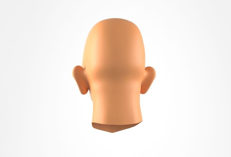 Cabeça de homem velho Basemesh royalty-free 3d model - Preview no. 8