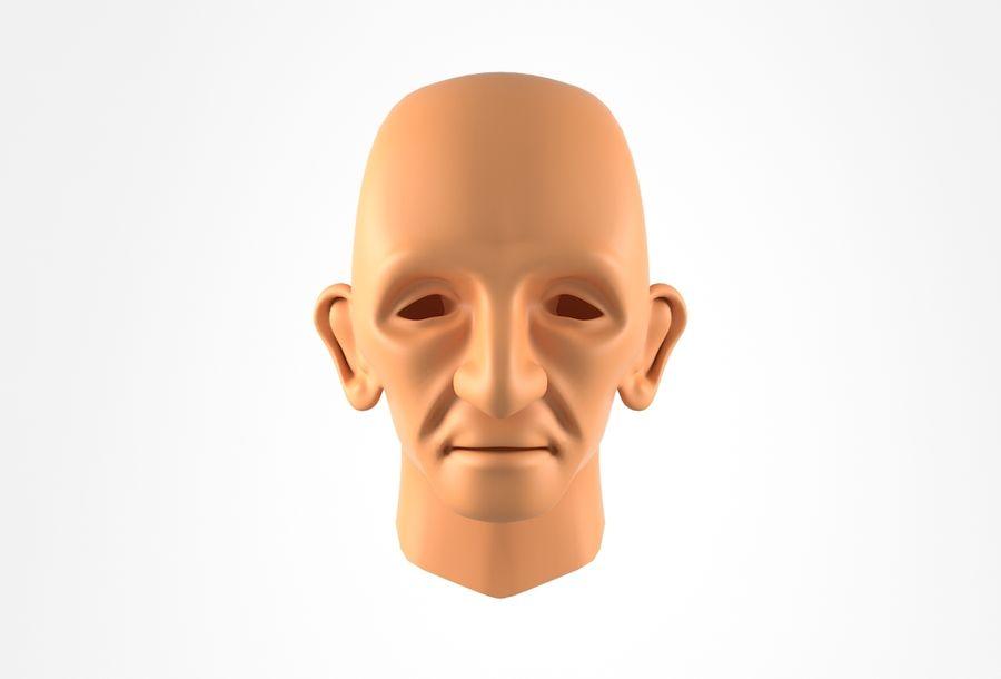Cabeça de homem velho Basemesh royalty-free 3d model - Preview no. 15