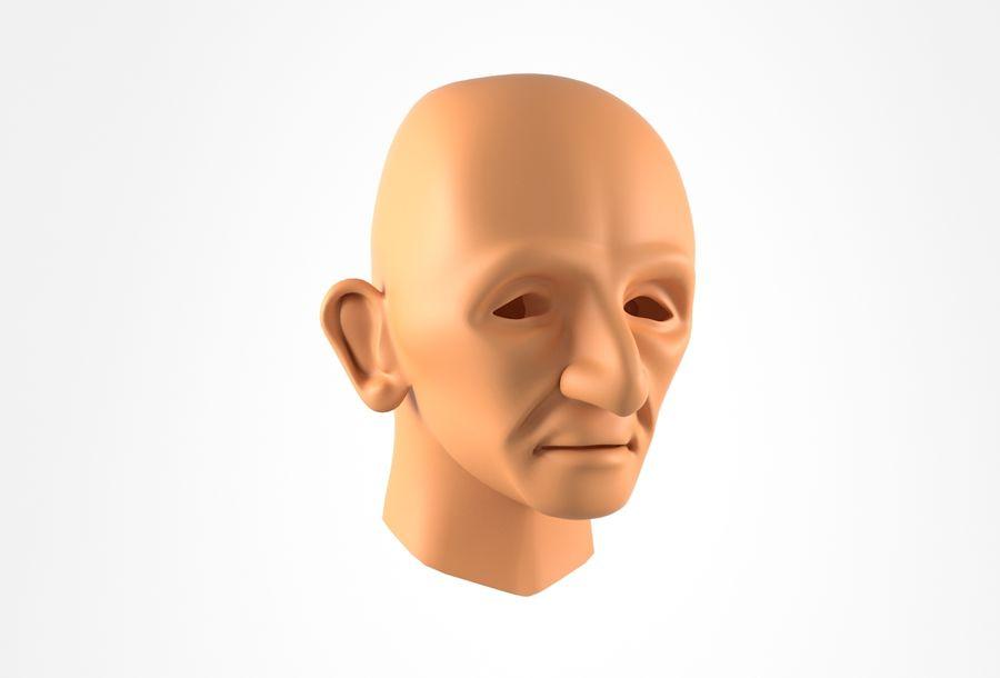 Cabeça de homem velho Basemesh royalty-free 3d model - Preview no. 1