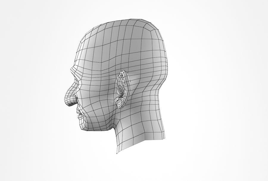 Cabeça de homem velho Basemesh royalty-free 3d model - Preview no. 27