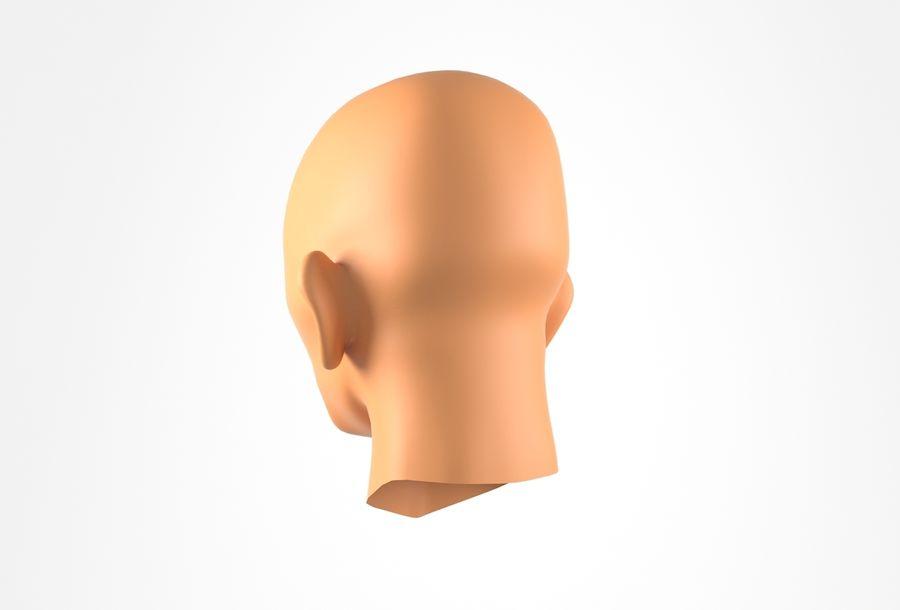 Cabeça de homem velho Basemesh royalty-free 3d model - Preview no. 9