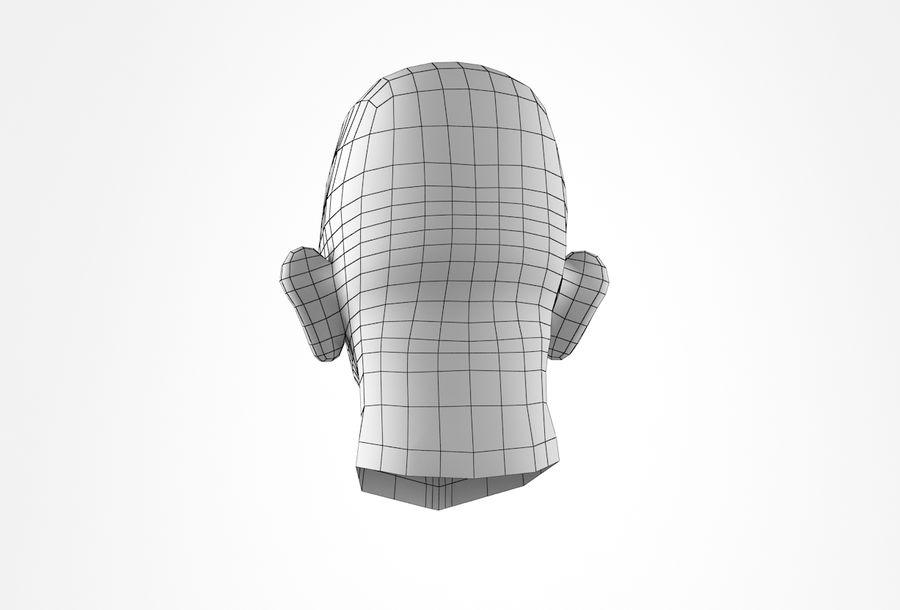 Cabeça de homem velho Basemesh royalty-free 3d model - Preview no. 24
