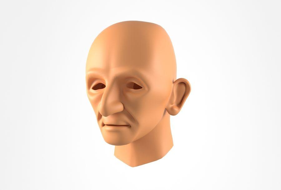 Cabeça de homem velho Basemesh royalty-free 3d model - Preview no. 14