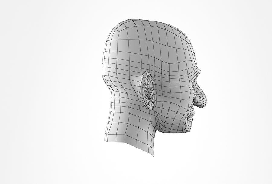 Cabeça de homem velho Basemesh royalty-free 3d model - Preview no. 20