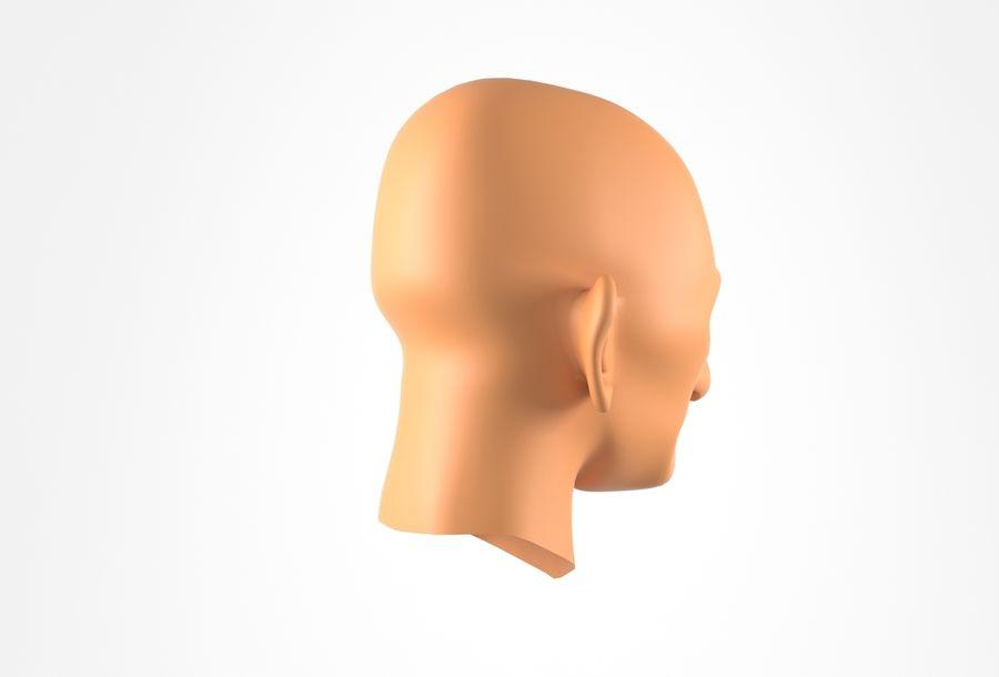 Cabeça de homem velho Basemesh royalty-free 3d model - Preview no. 5