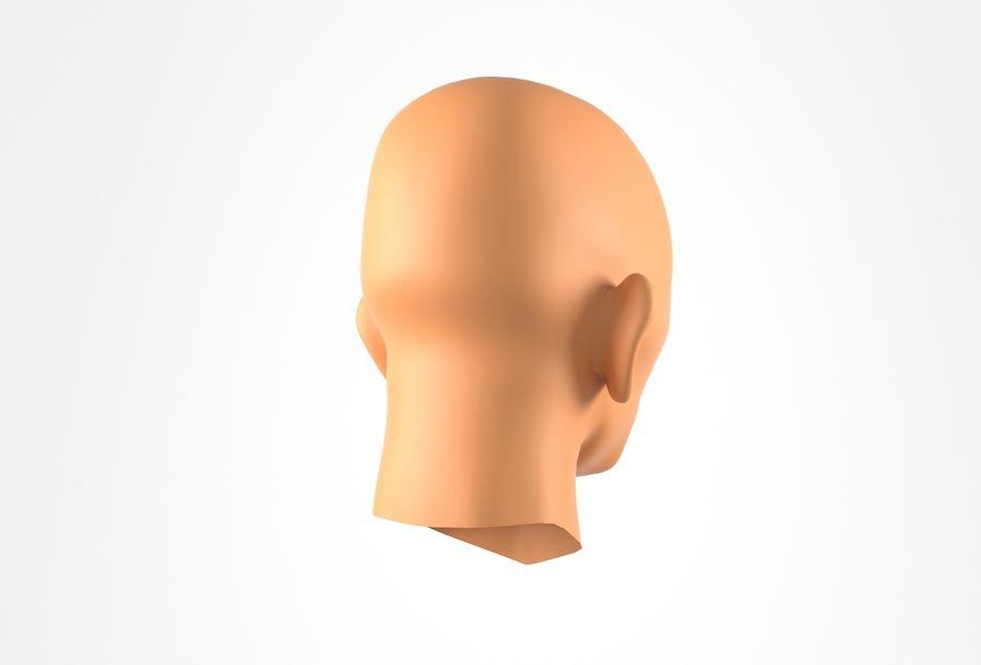Cabeça de homem velho Basemesh royalty-free 3d model - Preview no. 6