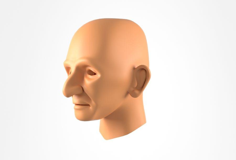 Cabeça de homem velho Basemesh royalty-free 3d model - Preview no. 13