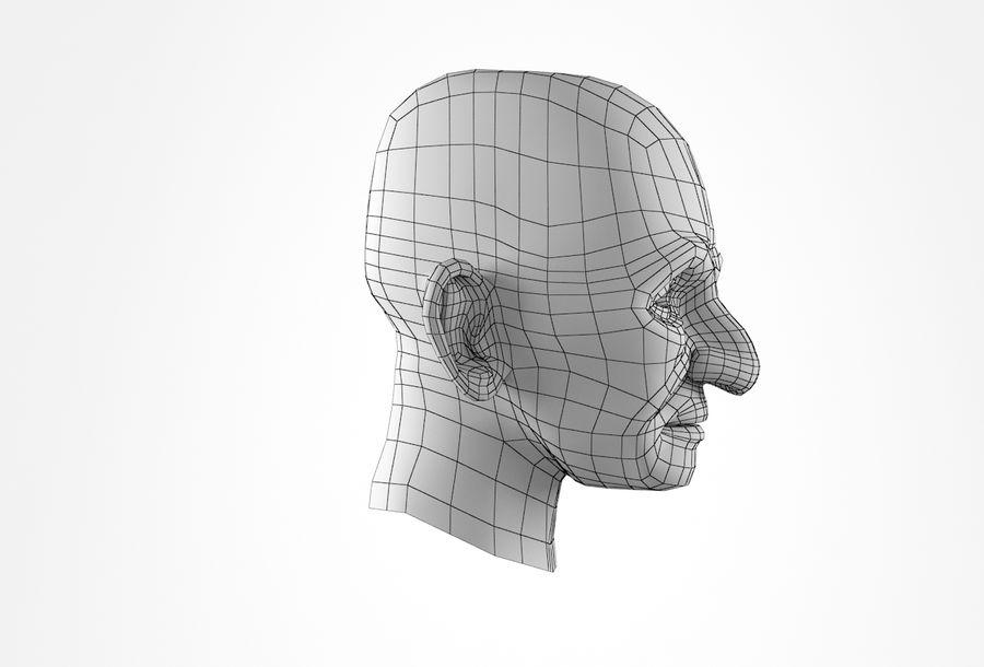 Cabeça de homem velho Basemesh royalty-free 3d model - Preview no. 19
