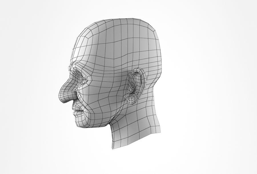 Cabeça de homem velho Basemesh royalty-free 3d model - Preview no. 28