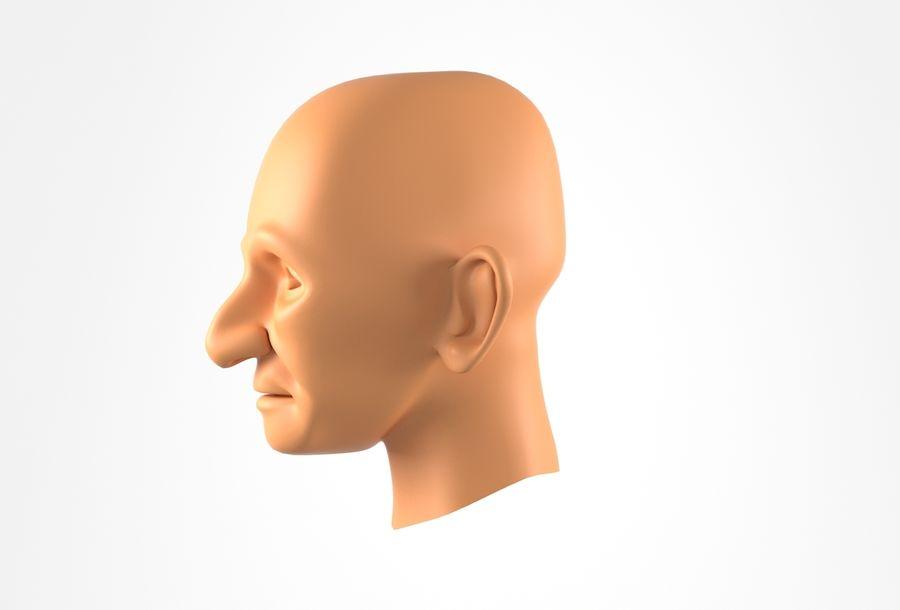 Cabeça de homem velho Basemesh royalty-free 3d model - Preview no. 12