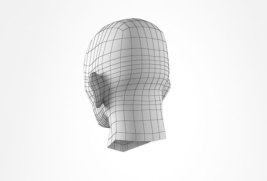 Cabeça de homem velho Basemesh royalty-free 3d model - Preview no. 25