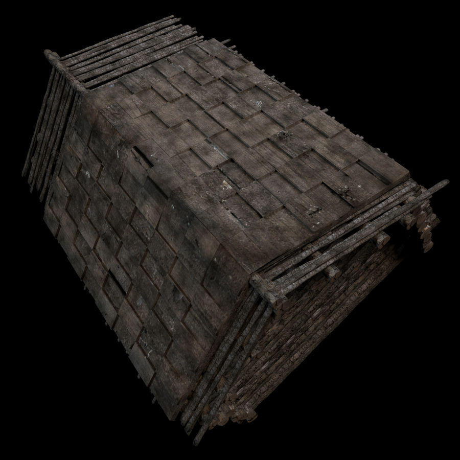 Cabin royalty-free 3d model - Preview no. 3