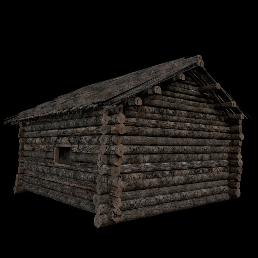 Cabin royalty-free 3d model - Preview no. 2