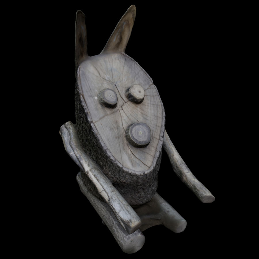 Wooden Rabbit royalty-free 3d model - Preview no. 1